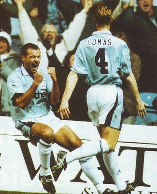 Notts F Home 1995 to 96 rosler goal celeba