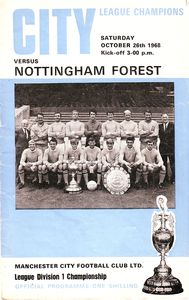 Notts Forest home 1968 to 69 prog