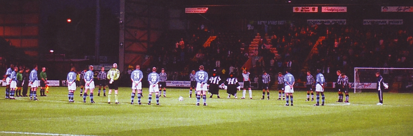notts county away worthington cup 2001 to 02 9/11