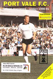 PORT VALE FA CUP 1990 to 91 prog