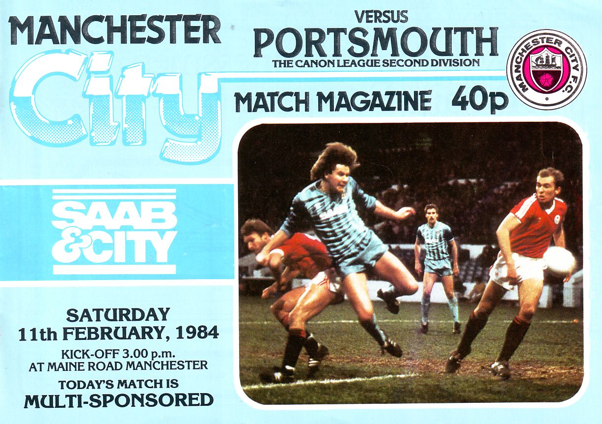 Portsmouth home 1983 to 84 prog