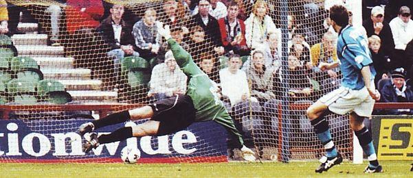 Preston away 2001 to 02 huckerby goalb