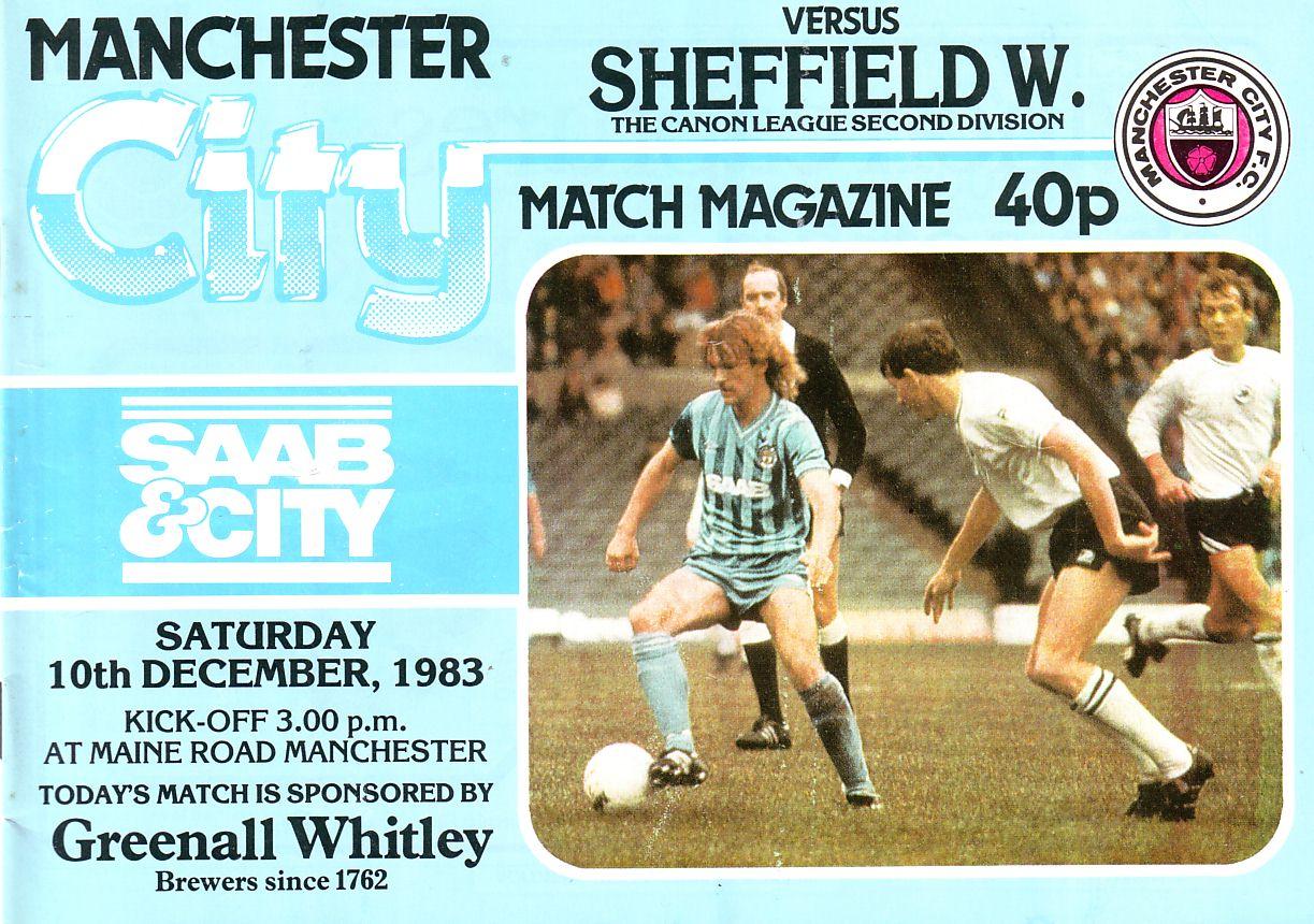 sheff w home 1983 to 84 prog
