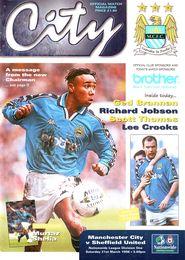 Sheffield united home 1997 to 98 prog