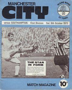 Southampton home 1973 to 74 prog