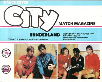 Sunderland home 1980 to 81 prog