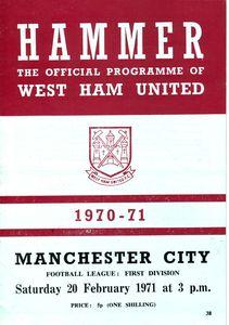 WHU Away 1970-71 Programme