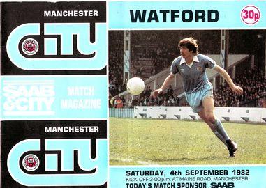 Watford Home 1982 to 83 prog