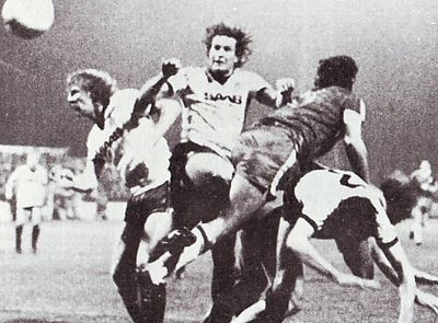 Wigan away Milk Cup 1982 to 83 action
