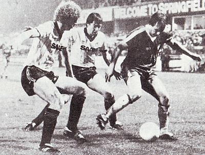 Wigan away Milk Cup 1982 to 83 action2