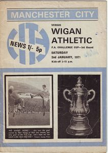Wigan home fa cup 1970-71 programme