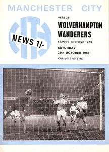 Wolves home 1969-70 programme