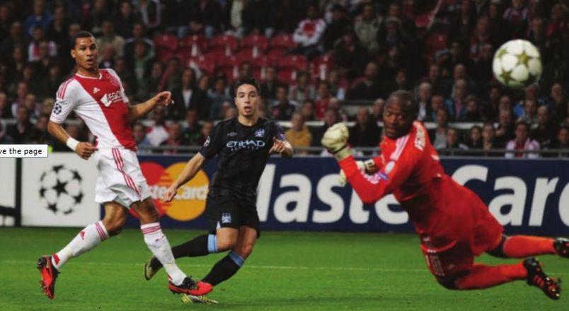 ajax away 2012 to 13 nasri goal