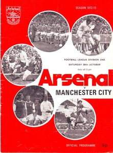 arsenal away 1972 to 73 prog