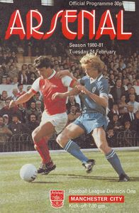 arsenal away 1980 to 81 prog