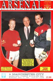 arsenal away 1990 to 91 prog