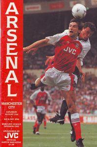 arsenal away 1991 to 92 prog