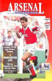 arsenal away 1992 to 93 prog