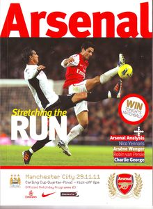 arsenal away carling cup 2011 to 12 prog