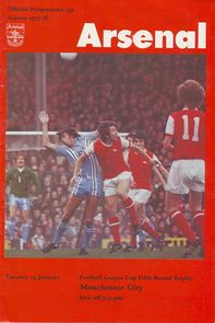 arsenal away league cup 1977 to 78 prog