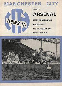 arsenal home 1969 to 70 prog