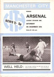 arsenal home 1970-71 programme