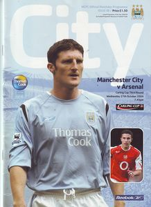 arsenal home carling cup 2004 to 05 prog