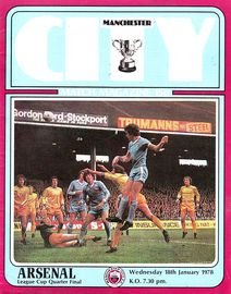 arsenal home league cup 1977 to 78 prog