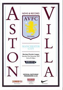 aston villa away 2007 to 08 proga