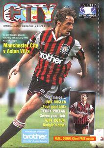 aston villa fa cup 1994 to 95 prog
