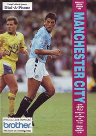 aston villa home 1990 to 91 prog