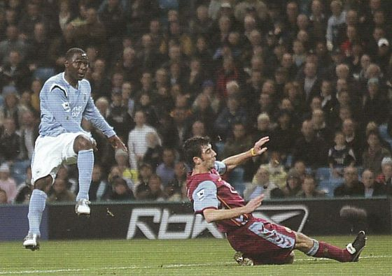 aston villa home 2005 to 06 cole goal