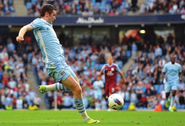 aston villa home 2011 to 12 johnson goal
