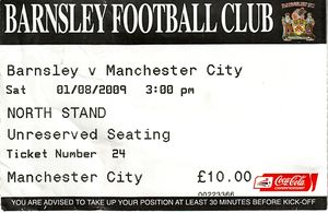 barnsley 2009 to 10 ticket