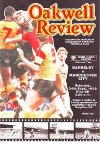 barnsley away 1988 to 89 prog