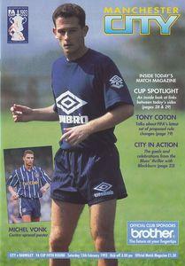 barnsley fa cup 1992 to 93 prog