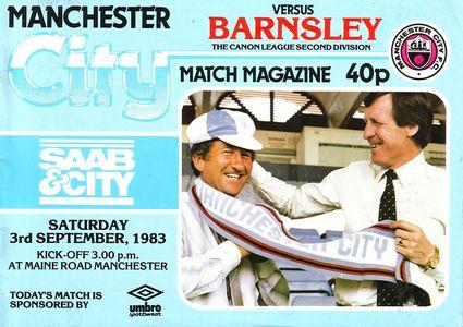 barnsley home 1983 to 84 proga