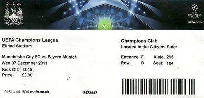 bayern munich home 2011 to 12 ticket