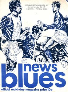 birmingham away 1974 to 75 prog