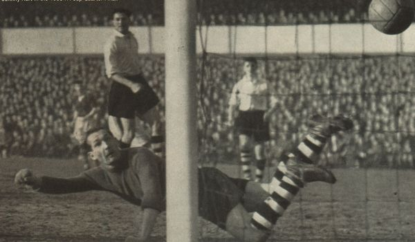 fa cup 6th rd 1954 to 55 hart goal