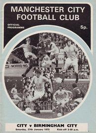 birmingham home 1972-73 programme