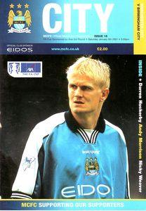 birmingham home FA Cup 2000 to 01 prog