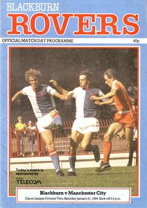 blackburn away 1983 to 84 prog