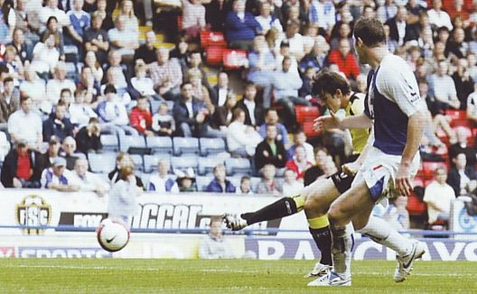 blackburn away 2006 to 07 barton goal