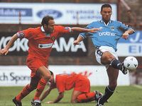 blackpool away friendly 1997 to 98 action