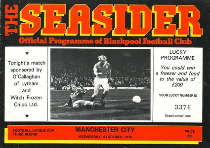 blackpool away league cup 1978 to 79 prog