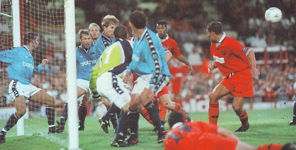 blackpool cola cup away 1997 to 98 action