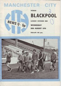 blackpool home 1970-71 programme