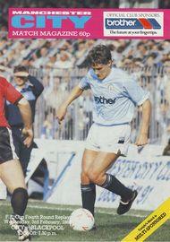 blackpool home fa cup replay 1987 to 88 prog