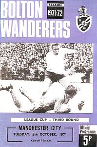 bolton league cup 1971 to 72 prog
